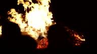 celebrating new year with wood burning