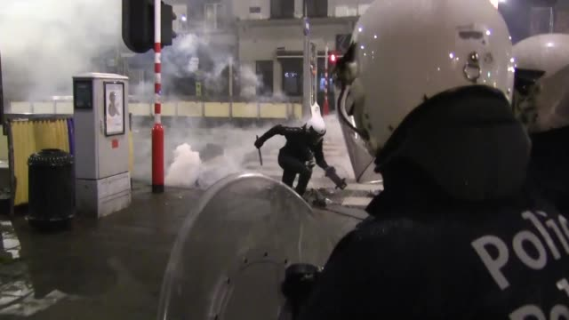 Celebrations turned violent in central Brussels minutes after the qualification of the Moroccan national football team for the next World Cup in...