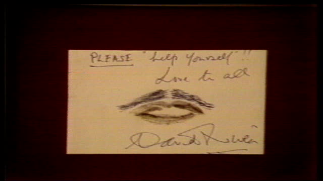 Celebrity 'Hot Lips' auction for Children In Need ENGLAND London Sotheby's CMS Bette Davis' lips PULL CMS Sean Connery's lips CMS Jack Nicholson's...