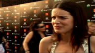 Celebrity red carpet arrivals / interviews Michelle Ryan interview SOT Talks about Christina Aguilera concert loved her last album / New albume meant...