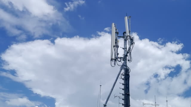 Cell phone tower time lapse.