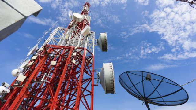 Cellphone telecommunicatie toren time-lapse