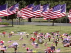 Cemetery Flags - Zoom out