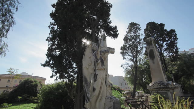 W/S Cemetery, statue, tomb, track in