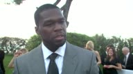 Cent on whether he has a limit on what he's going to spend tonight at the Cannes Film Festival 2009 amfAR Red Carpet at Antibes