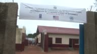 Central Africa's President Faustin Archange Touadera inaugurates a refurbished prison facility in Bossembele designed to house those convicted by the...