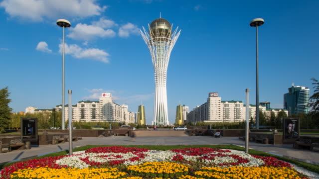 Central Asia, Kazakhstan, Astana, Nurzhol Bulvar - Central Boulevard and  Bayterek Tower
