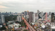 Central Business District Bangkok City of Thailand :Day To Night Time-Lapse