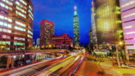 Central of Taipei city from day to night