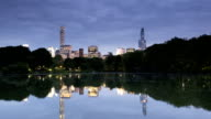 Central Park Lake Reflections Panorama