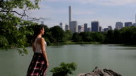 Central Park New York lake chillin