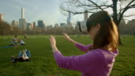 Central Park Virtual reality headset googles NYC You adult woman