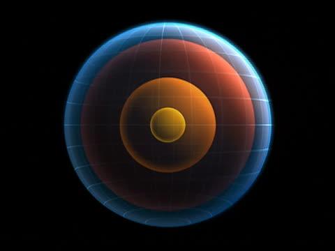 CGI, ZI centre of earth, animation