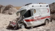 A centre of the civil defence also known as the white helmets in Khan Sheikhun a rebelheld town in the northwestern Syrian province of Idlib was...