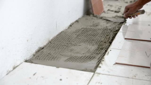 ceramic tile laying