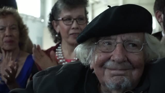 A ceremony is held in honour of Nicaraguan poet writer priest and supporter of the liberation theology doctrine Ernesto Cardenal in Guatemala's...