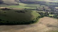 Cerne Abbas Giant  - Aerial View - England, Dorset, West Dorset District, United Kingdom