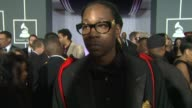 Chainz on what people think about him and on who he would like to work with at The 55th Annual GRAMMY Awards Arrivals Interviews in Los Angeles CA on...
