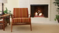 MS Chair next to fireplace in residential home / Thousand Oaks, California, USA