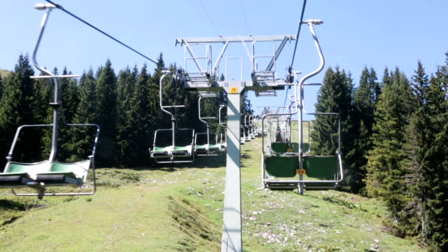 chairlift ride in the european alps