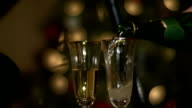 Champagne glasses at Christmas 2