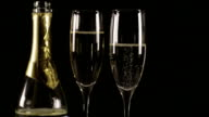 Champagne Glasses with Bottle HD