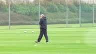 Arsenal squad training ENGLAND Hertfordshire London Colney EXT Various members of Arsenal squad training Arsene Wenger watches players train Arsenal...
