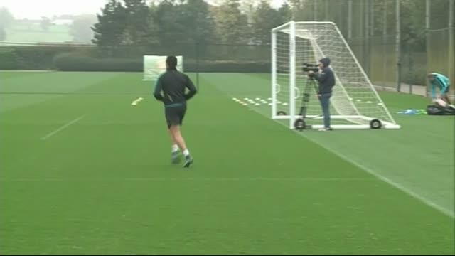Arsenal training session ENGLAND Hertfordhsire London Colney EXT Various of Arsenal football training session watched by Arsenal Manager Arsene...