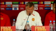 Manchester United press conference / training session Sir Alex Ferguson press conference SOT On number of trophies Manchester Utd have won...