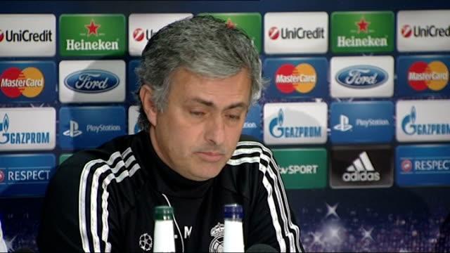 Manchester United v Real Madrid Jose Mourinho press conference ENGLAND Manchester Etihad Stadium PHOTOGRAPHY *** Jose Mourinho press conference SOT I...