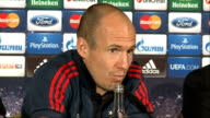 INT Arjen Robben press conference SOT