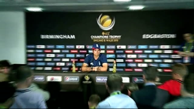 Alastair Cook press conference ENGLAND Midlands Birmingham Edgbaston INT Alastair Cook arriving at press conference Alastair Cook press conference...
