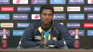Sri Lanka press conference More Mathews press conference SOT / Mathews leaving presser GVs of Sri Lanka training session at The Oval / GVs batting in...