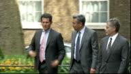 Chancellor George Osborne meets Warner Bros Executives ENGLAND London Downing Street EXT George Osborne MP along Downing Street and into No 11 /...