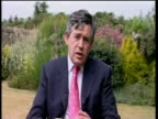 Chancellor Gordon Brown comments on long term future of African development Gleaneagles 3 July 2005