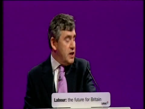 Chancellor Gordon Brown comments on strained relationship between himself and Prime Minister Blair at Party conference