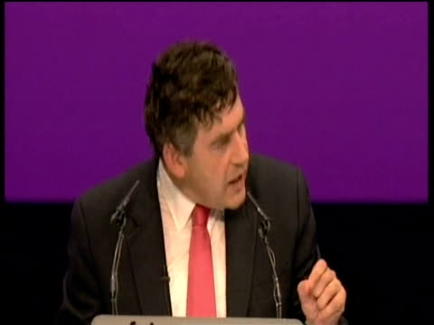 Chancellor Gordon Brown makes speech at annual Labour party conference