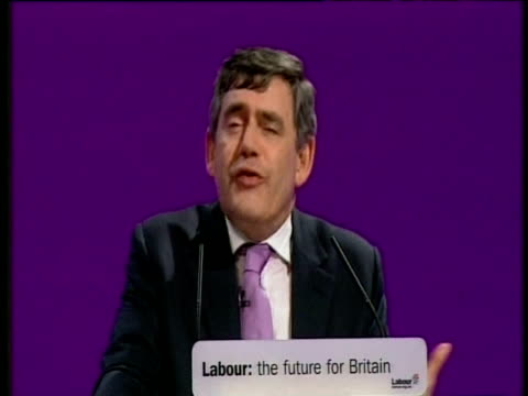 Chancellor Gordon Brown tells delegates why he entered politics at party conference