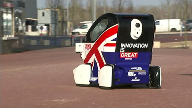 Chancellor Philip Hammond says he will deliver a 'balanced budget' T11021545 / TX Milton Keynes EXT Driverless 'LUTZ pathfinder pod' along concreted...