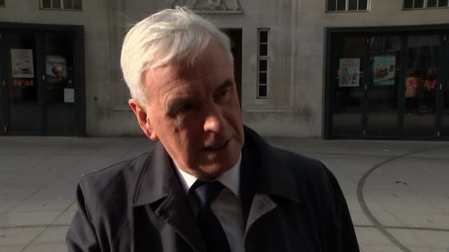 Chancellor Philip Hammond says he will deliver a 'balanced budget' ENGLAND London EXT John McDonnell MP interview SOT We need serious action in this...
