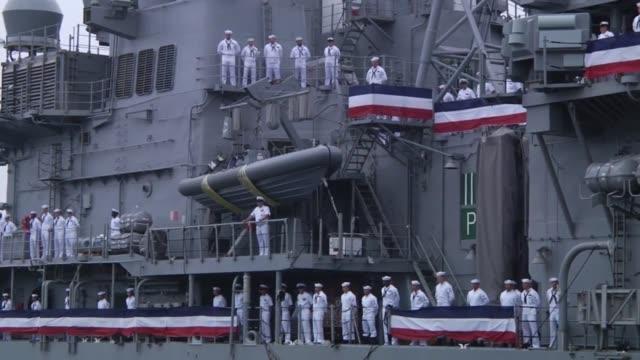 USS Chancellorsville arrives at Fleet Activities Yokosuka Japan as part of a homeport change Chancellorsville has just undergone a modernization...