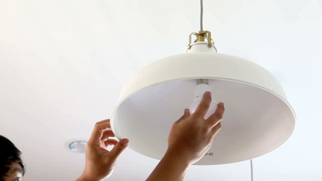 Changing LED bulb at home.