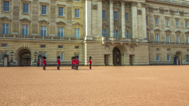 Changing of the Guard at Buckingham Palace in London.