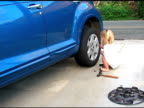 Changing the tire 02