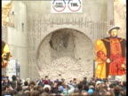 Channel Tunnel breakthrough Sangatte Tunnel boring machine breaks surface as party takes placeConstruction worker Tony Bray interview SOF moving...