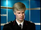 Channel Tunnel fire ITN CMS Peter Coombs intvwd SOT concerned that Kent Fire brigade were not called for an hour