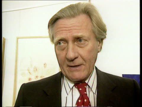 Channel Tunnel fire LIVE STUDIO/LIVE 2 WAY ex LONDON London Waterloo CMS Michael Heseltine MP intvwd SOT congratulates the emergency services need...