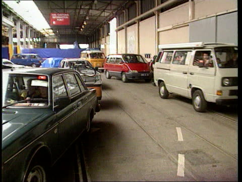 Channel Tunnel operators promise price war with ferry companies Dover Cars towards in hold of ferry