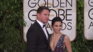 Channing Tatum and Jenna Dewan Tatum at 73rd Annual Golden Globe Awards Arrivals at The Beverly Hilton Hotel on January 10 2016 in Beverly Hills...