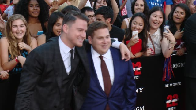 Channing Tatum Jonah Hill at '22 Jump Street' Los Angeles Premiere at Regency Village Theatre on June 10 2014 in Westwood California
